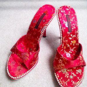 DELICIOUS Rhinestone Women's High Heel Sandals